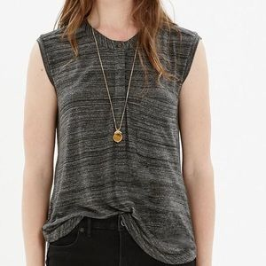 Madewell High Low Tipoff Placket Blouse